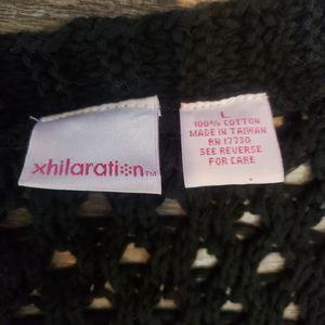 xhilaration Sweaters - Xhilaration Crocheted Duster Black Size Large